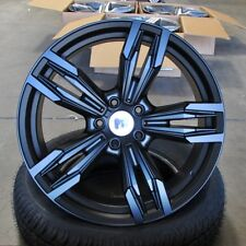 BMW M6 18x8/9 5x120 +35/+37 Satin Black Wheels (Set of 4)