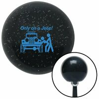 Blue Only On A Jeep Black Metal Flake Shift Knob USA Shifter Auto hurst drag fly