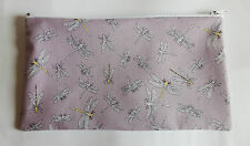 Beautiful Dragonfly Fabric Handmade Make Up Bag Pencil Case Storage Pouch