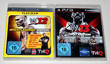 2 giochi ps3 Bundle-WWE 12 WrestleMania 13 First Edition PLAYSTATION Wrestling