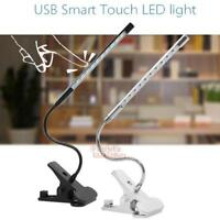 Adjustable USB Dimmable Touch Sensor LED Clip-On Desk Table Reading Light Lamp