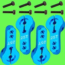 ► 4 x servohorn 25t 25 dientes servoarm ALU azul cnc 35mm servohebel mg995 mg946r