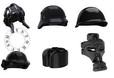 6pcs Custom Helmet & Gas Mask WW2 Military Accesories Lot for LEGO Minifigures!