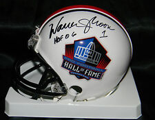 "WARREN MOON SIGNED MINI HELMET AUTO ""HOF 06"" NFL HOF COA OILERS VIKINGS"