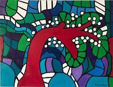Elisabeth Bayle Expressionnisme abstrait grande Peinture 115,5 cm par 88,5 cm