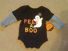 Nwt Unisex Peek A Boo Ghost Halloween Bodysuit Long Sleeve 0-3 Months