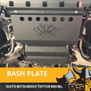 Bash Plate 4mm 2pcs Powder Coated Black to suit Mitsubishi Challenger PB PC