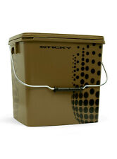 Sticky Baits Multi Purpose Bait Bucket with Lid Carry Handle Fishing Accessory
