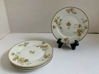 4 Haviland Limoges Autumn Leaf Bread & Butter Plates EUC France