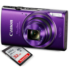 Canon PowerShot ELPH 360 HS (Purple)12x Optical Zoom - Built-In Wi-Fi with De...
