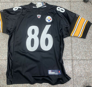 HINES WARD #86 STEELERS 2005-07 AUTHENTIC REEBOK HOME FOOTBALL JERSEY sz 52 NWT