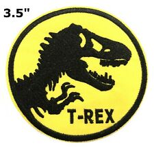 """3.5"""" Jurassic Park Ranger Movie Cosplay Tactical Embroidered Iron-On Patch Dino"""