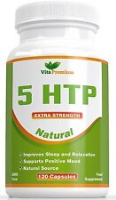 5-HTP 120 Veggie Capsules - Helps to Increase Melatonin and Serotonin levels - -