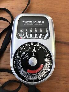 Vintage Westin Master III Light Meter Model 737