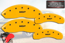 """2003 2004 2005 Chevy Astro Front + Rear Yellow """"MGP"""" Brake Disc Caliper Covers"""