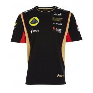 T-SHIRT Tee Mens Formula One 1 Lotus F1 Team NEW! Burn Raikkonen Black 2013 L