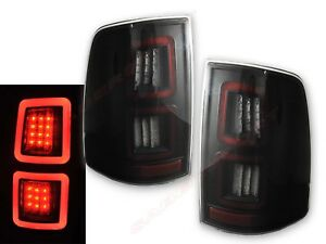 Set of Pair Smoke Full LED Taillights for 2009-2017 Ram 1500 / 10-17 2500 3500