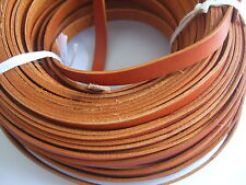 2 Meters High Quality 10mm Flat Camel Tan Real Leather Jewellery Making Cord