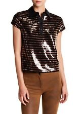 NWT $275 Alice + Olivia Tamlyn Sequined Blouse in Size Small!