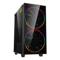 GameMax ATX Mid Tower A363-TB Gaming PC Desktop Computer Case W/ RGB LED Fans