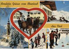Alte Postkarte - Herzliche Grüsse vom Skiurlaub Aus Tirol