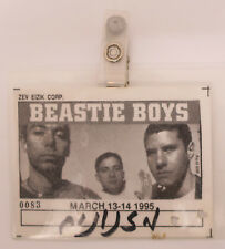 Beastie Boys 1995 Tel Aviv Israel Winter Tour Workers Entrance Pass