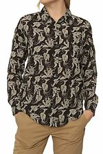 Hüftlang Damenblusen,-Tops & -Shirts im Blusen-Stil mit Tiermuster für Freizeit