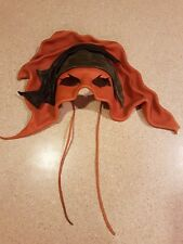 SIGNED JOMA LEATHER MASK COSPLAY COSTUME MASQUREADE HALLOWEE PIRATE WALL HANGER