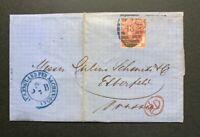 QV 3d Rose Plate 4 1865-67 / Folded Letter / SG Cat £500+