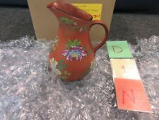 Wedgwood Painted Flower Pottery Capriware Pot Pitcher Water Beverage Rosso 1877