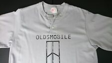 Vintage Oldsmobile GM Medium Gray Henley T Shirt USA Howe Athletic Apparel W