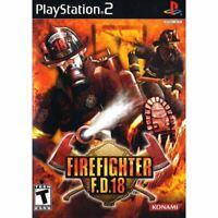 Firefighter F.D. 18 PlayStation 2 PS2 Game Complete *CLEAN VG