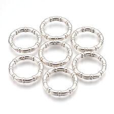10pcs 12mm NERO VETRO CUORE Connettori collegamenti gioielli Craft UK