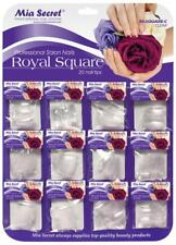 Mia Secret 20 Pc Royal Square Clear Nail Tip Professional Acrylic Gel Manicure