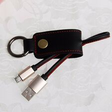 3.0A Micro USB Key Ring PU Leather Charge Data Cable for Phone Samsung Galaxy S6