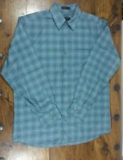 MENS DKNY BLUE CHECKED SHIRT SIZE MEDIUM LONG SLEEVES EXCELLENT CONDITION