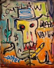 ABSTRACT Painting Graffiti Expressionist MODERN Wall Art DEATH OUTLAW FOLTZ