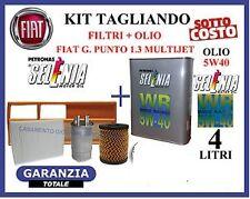 Kit tagliando filtri+olio motore SELENIA FIAT BRAVO II 1.6 M.JET 120CV 88KW 08>