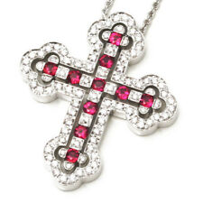 COLLANA CROCE DAMIANI BELLE EPOQUE ORO RUBINI BRILLANTI DIAMANTI 20026302 CROSS