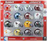 "SEC College Football 2"" RIDDELL Pocket Pro Mini Helmets Set NEW NCAA Gift Toy"