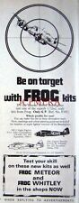 1970 'FROG' Bristol BEAUFIGHTER Model Airplane Kits ADVERT - Vintage Print AD