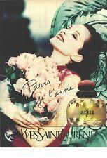 PUBLICITE 1996   YVES SAINT LAURENT parfum PARIS, JE T'AIME.....