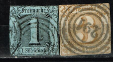 Germany Thurn and Taxis Northern District classic stamps set 1859-60 $69