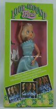 Fleur ( dutch Sindy ) doll look around with blond hair in blue dress Nrfb