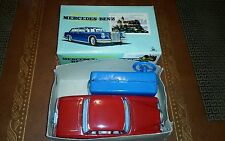 Vintage tin battery operated mercedes Benz  SSS made in japan in box tin toy lot