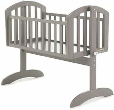 Obaby SOPHIE SWINGING CRIB Baby Child Nursery Furniture Warm Grey BN