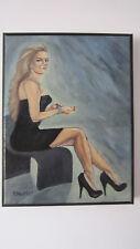 Time - Elegant Woman In Heels; Original Framed Painting
