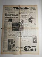 N390 La Une Du Journal L'humanité 5 Janvier 1968 Sud-Vietnam