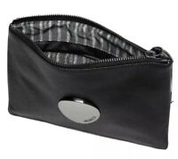 MIMCO Medium Black Pouch Waver Pebble Leather Wallet Clutch Bag BNWT Gunmetal