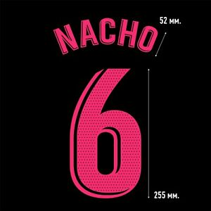 Nacho 6. Real Madrid Away football shirt 2020 2021 FLEX NAMESET NAME SET
